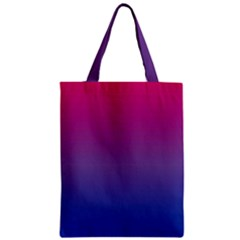 Bi Colors Zipper Classic Tote Bag