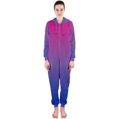 Bi Colors Hooded Jumpsuit (Ladies)