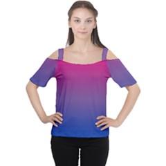 Bi Colors Women s Cutout Shoulder Tee