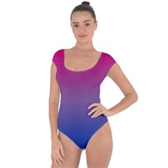 Bi Colors Short Sleeve Leotard