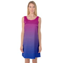 Bi Colors Sleeveless Satin Nightdress