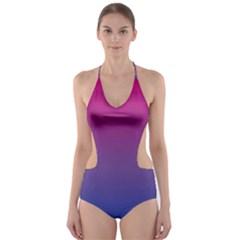 Bi Colors Cut-Out One Piece Swimsuit
