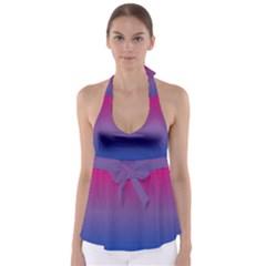 Bi Colors Babydoll Tankini Top