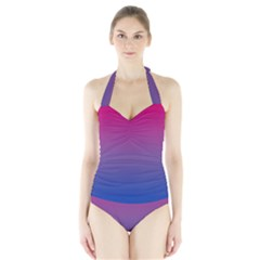 Bi Colors Halter Swimsuit
