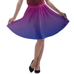 Bi Colors A-line Skater Skirt
