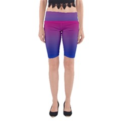 Bi Colors Yoga Cropped Leggings