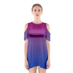 Bi Colors Shoulder Cutout One Piece