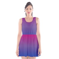 Bi Colors Scoop Neck Skater Dress