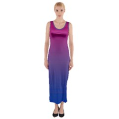 Bi Colors Fitted Maxi Dress