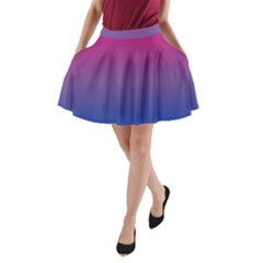 Bi Colors A-Line Pocket Skirt
