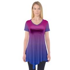Bi Colors Short Sleeve Tunic