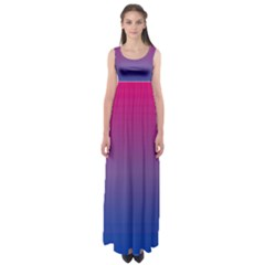 Bi Colors Empire Waist Maxi Dress