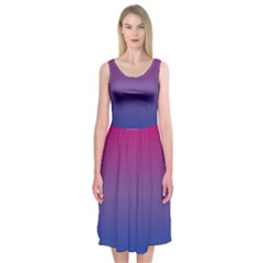Bi Colors Midi Sleeveless Dress