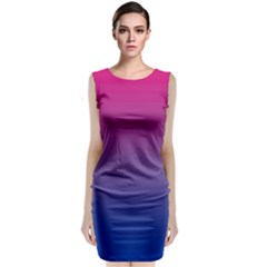 Bi Colors Classic Sleeveless Midi Dress