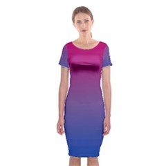 Bi Colors Classic Short Sleeve Midi Dress