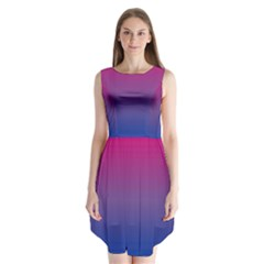 Bi Colors Sleeveless Chiffon Dress
