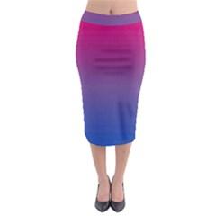 Bi Colors Midi Pencil Skirt