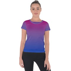 Bi Colors Short Sleeve Sports Top
