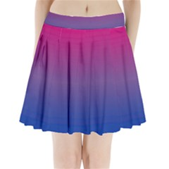 Bi Colors Pleated Mini Skirt
