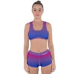 Bi Colors Racerback Boyleg Bikini Set