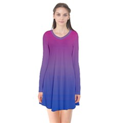 Bi Colors Flare Dress