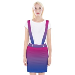 Bi Colors Braces Suspender Skirt