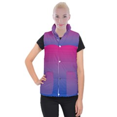 Bi Colors Women s Button Up Puffer Vest
