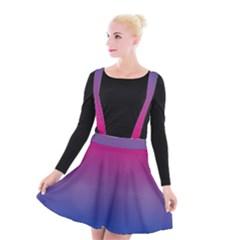 Bi Colors Suspender Skater Skirt