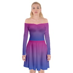Bi Colors Off Shoulder Skater Dress