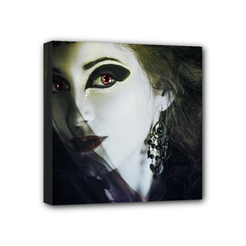 Goth Bride Mini Canvas 4  x 4