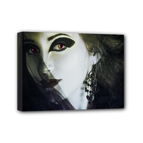 Goth Bride Mini Canvas 7  x 5