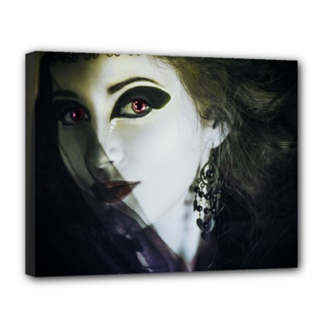 Goth Bride Canvas 14  x 11