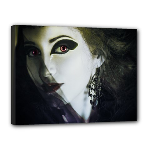 Goth Bride Canvas 16  x 12