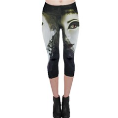 Goth Bride Capri Leggings