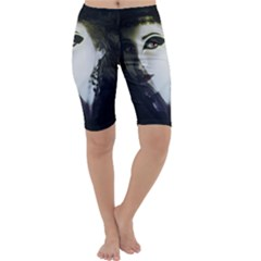 Goth Bride Cropped Leggings