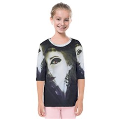 Goth Bride Kids  Quarter Sleeve Raglan Tee