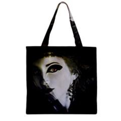 Goth Bride Zipper Grocery Tote Bag
