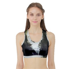 Goth Bride Sports Bra with Border