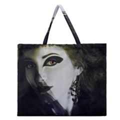 Goth Bride Zipper Large Tote Bag