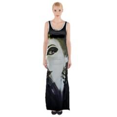 Goth Bride Maxi Thigh Split Dress