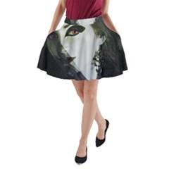 Goth Bride A-Line Pocket Skirt