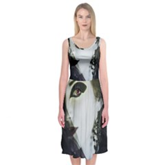 Goth Bride Midi Sleeveless Dress