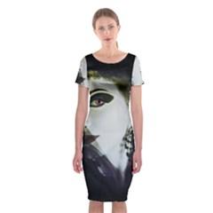 Goth Bride Classic Short Sleeve Midi Dress