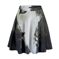 Goth Bride High Waist Skirt