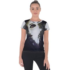 Goth Bride Short Sleeve Sports Top