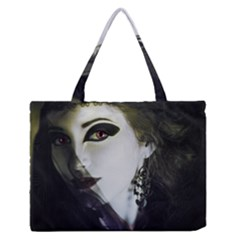 Goth Bride Medium Zipper Tote Bag