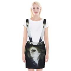 Goth Bride Braces Suspender Skirt