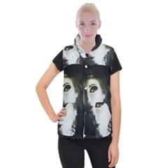 Goth Bride Women s Button Up Puffer Vest