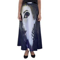 Goth Bride Flared Maxi Skirt