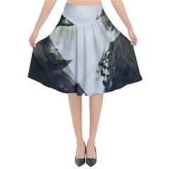 Goth Bride Flared Midi Skirt